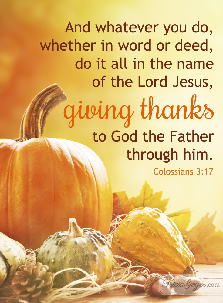 Thanksgiving Christian Quotes  Giving Thanks Christian Encouragement