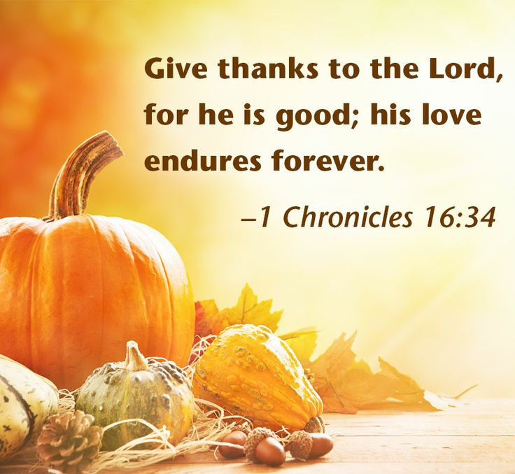 Thanksgiving Christian Quotes  Thanksgiving harvest with Bible verse 1 Chronicles 16 34