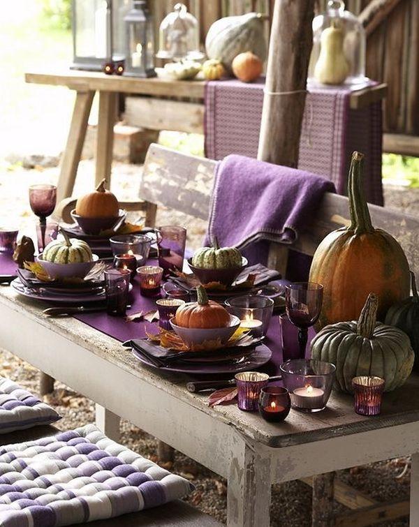 Thanksgiving Table Decor Ideas  16 Thanksgiving Decor Ideas In Purple