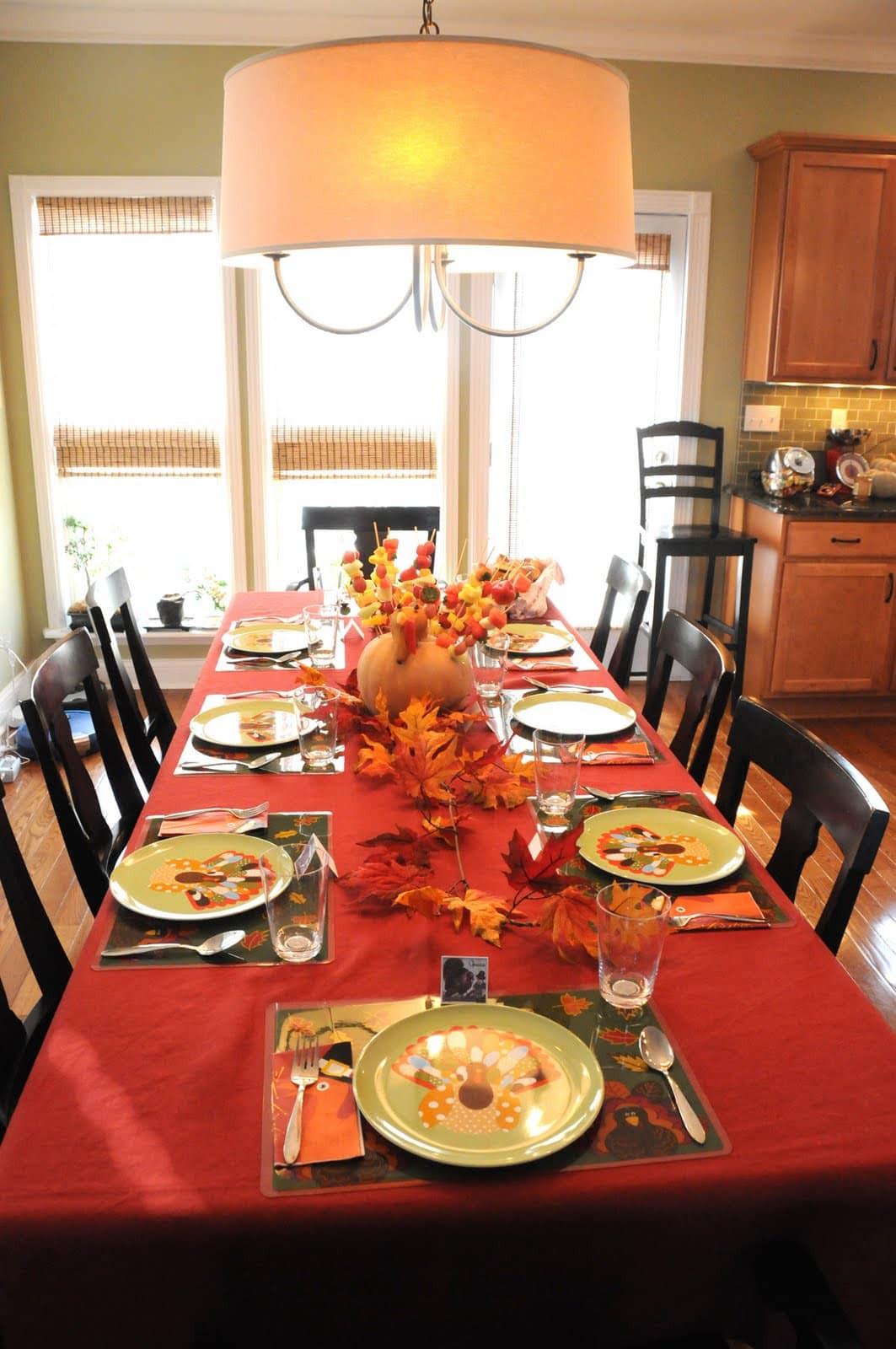 Thanksgiving Table Decor Ideas  Thanksgiving Decor The Polkadot Chair