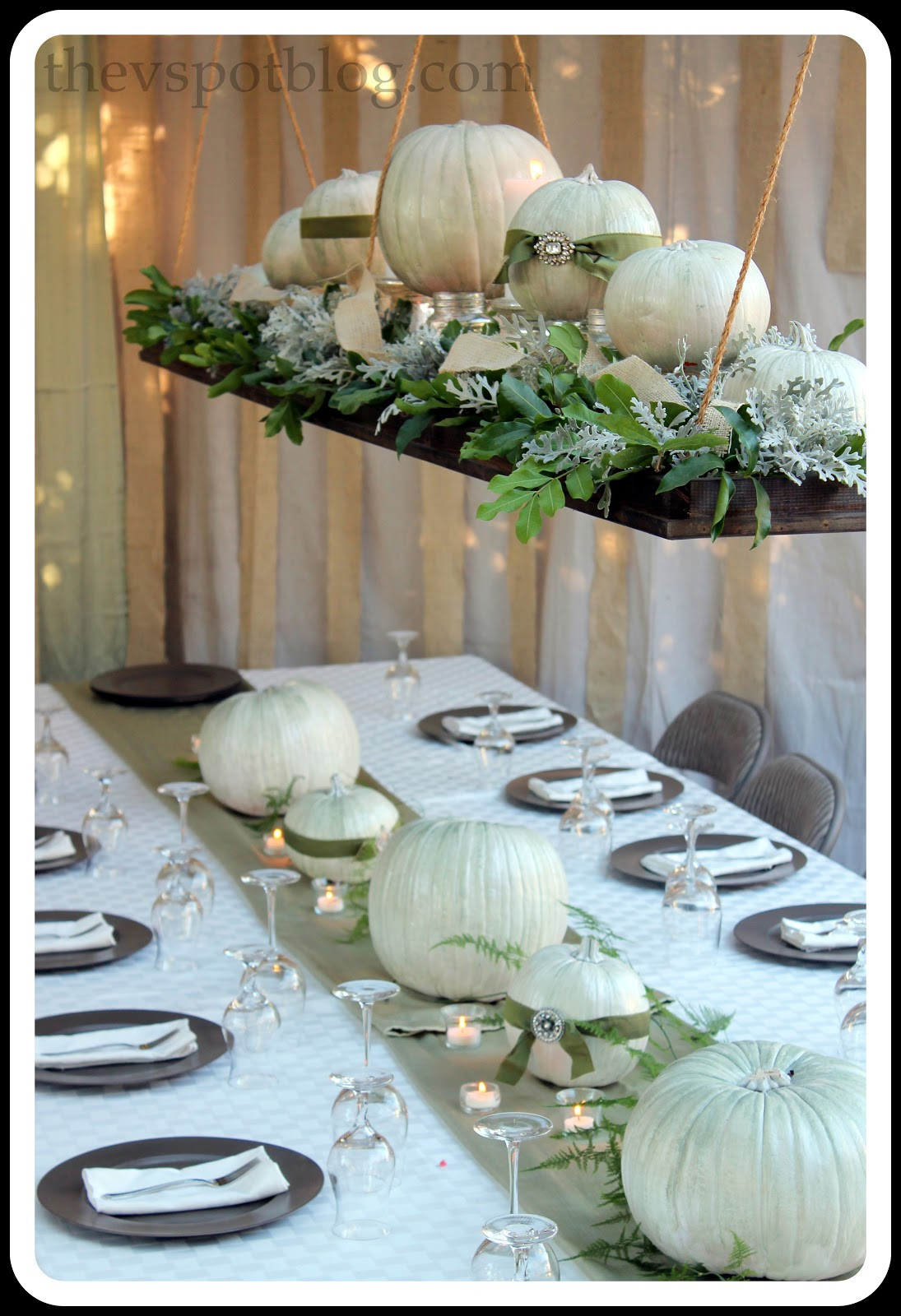 Thanksgiving Table Decor Ideas  Thanksgiving Wrap Up Dinner Decor and the Thanksgiving