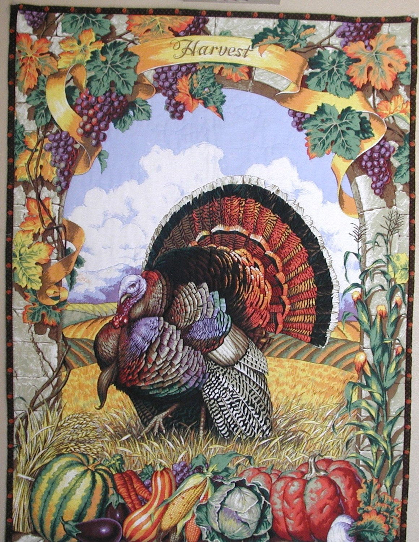 Thanksgiving Wall Art  Thanksgiving Wall Art WallHanging Harvest Quilt Panel Art
