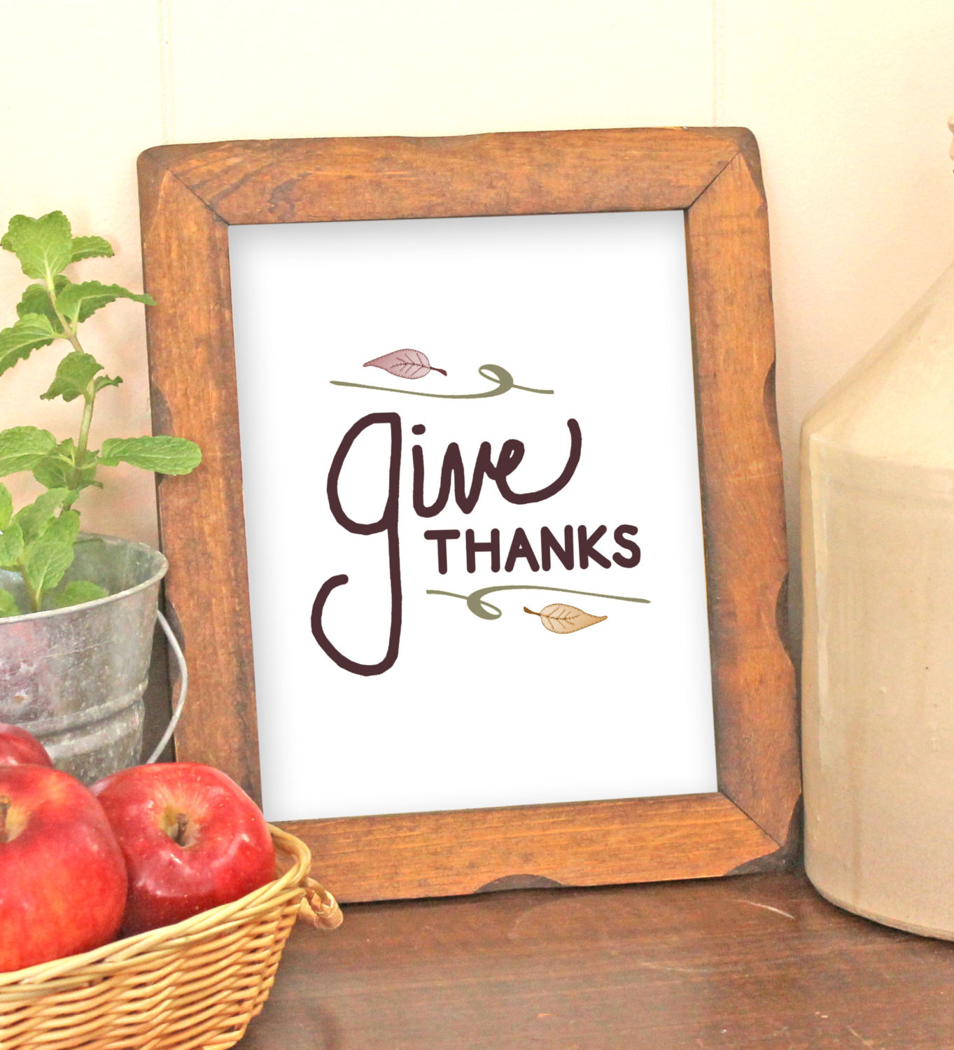 Thanksgiving Wall Art  Thanksgiving Wall Art Printable Give Thanks by VLHamlinDesign