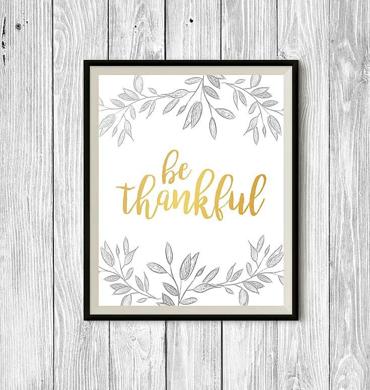 Thanksgiving Wall Art  Free Thanksgiving Printable Wall Art Stylish Cravings