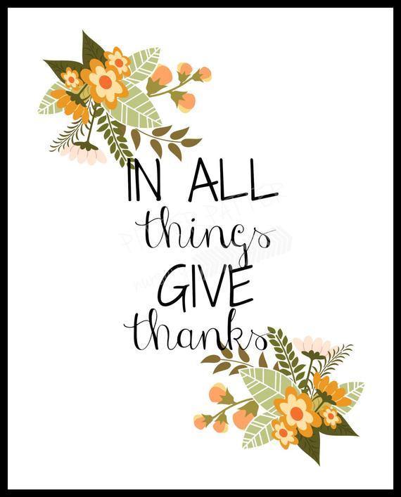 Thanksgiving Wall Art  Items similar to Thanksgiving Fall Printable wall art