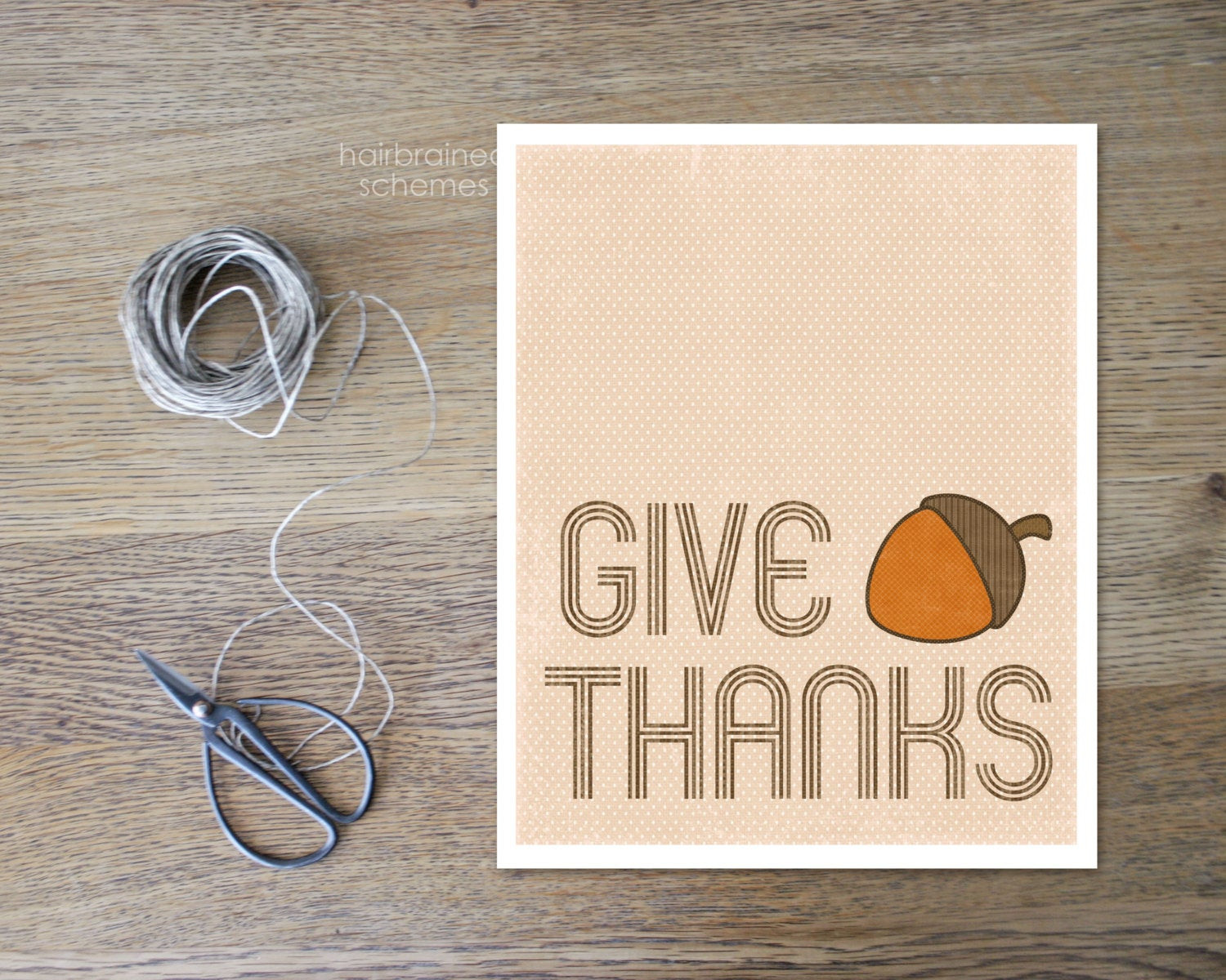 Thanksgiving Wall Art  Thanksgiving Wall Art Give Thanks Home by hairbrainedschemes