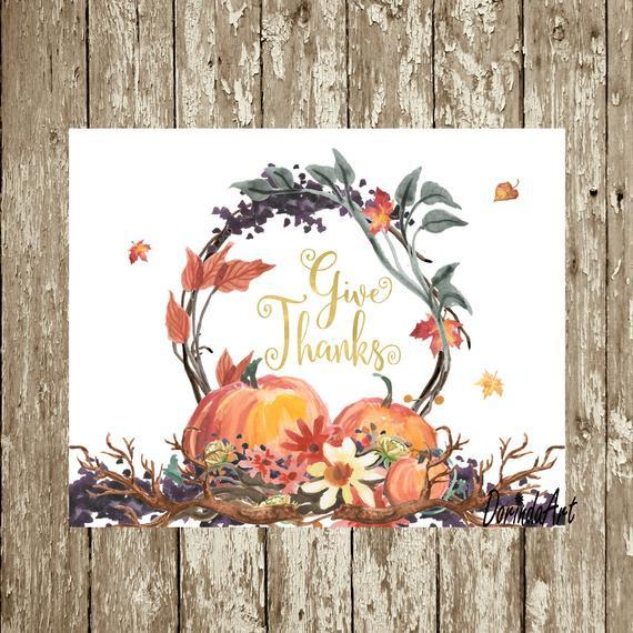 Thanksgiving Wall Art  Thanksgiving wall art DIY Fall decor ideas Pumpkin wreath