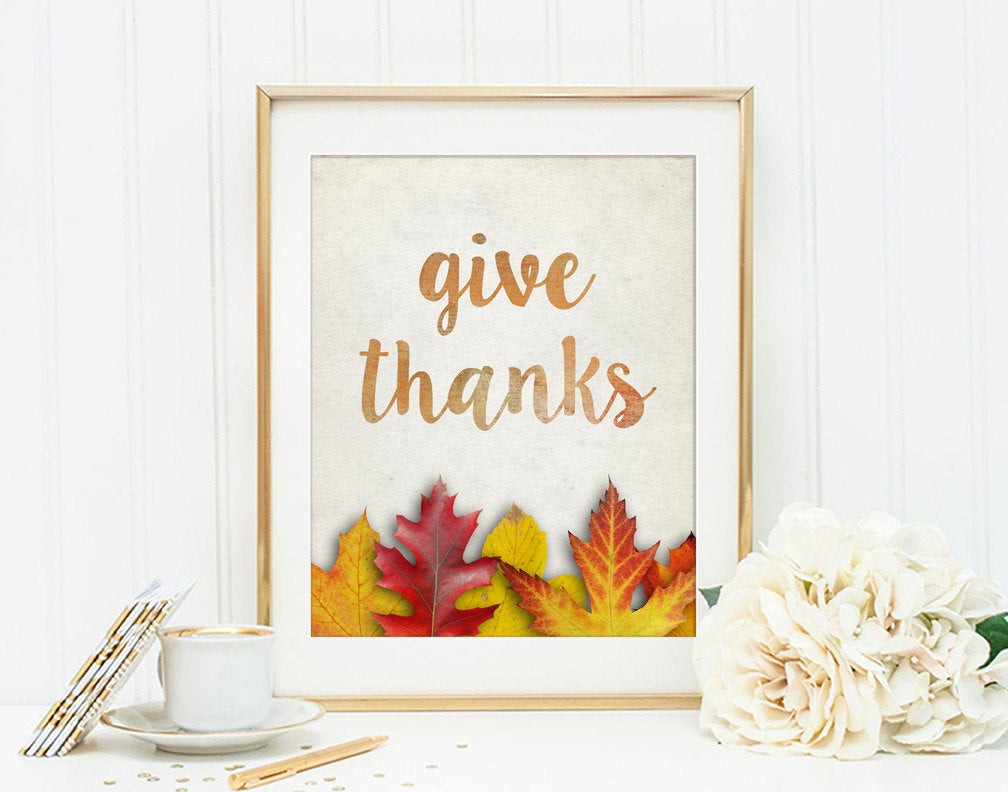 Thanksgiving Wall Art  Kitchen & Dining