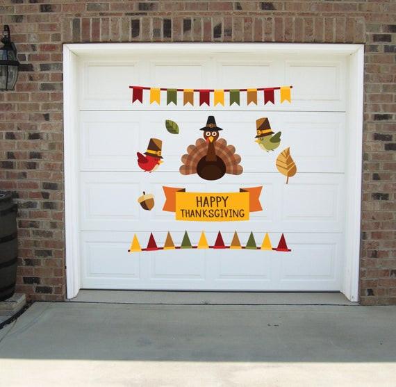 Thanksgiving Wall Art  Thanksgiving wall decal Thanksgiving garage decals
