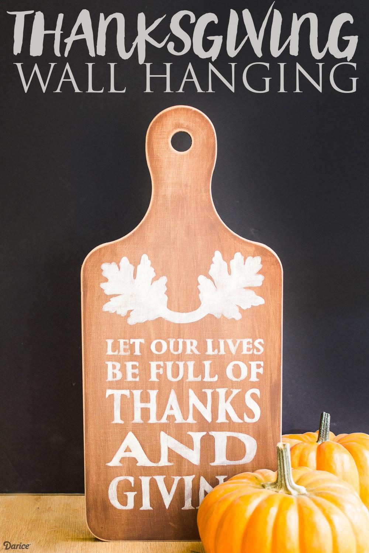 Thanksgiving Wall Art  Thanksgiving DIY Wall Hanging with Free Printable Darice