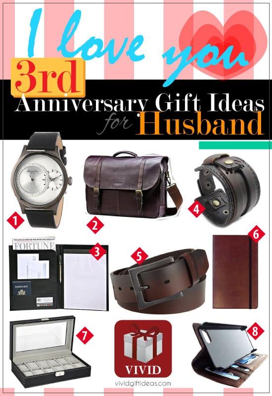 Third Anniversary Gift Ideas  3rd Wedding Anniversary Gift Ideas for Him Vivid s
