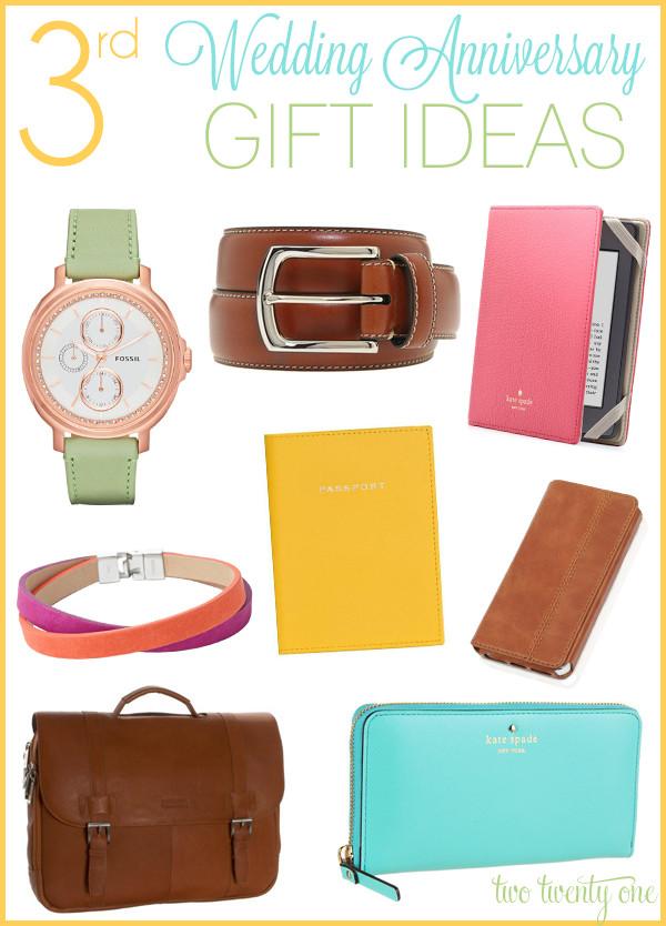 Third Anniversary Gift Ideas  Third Anniversary Gift Ideas