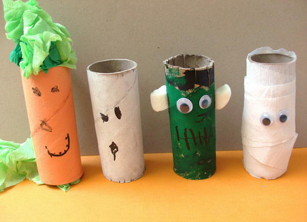 Toilet Paper Roll Halloween Crafts  150 Homemade Toilet Paper Roll Crafts Hative