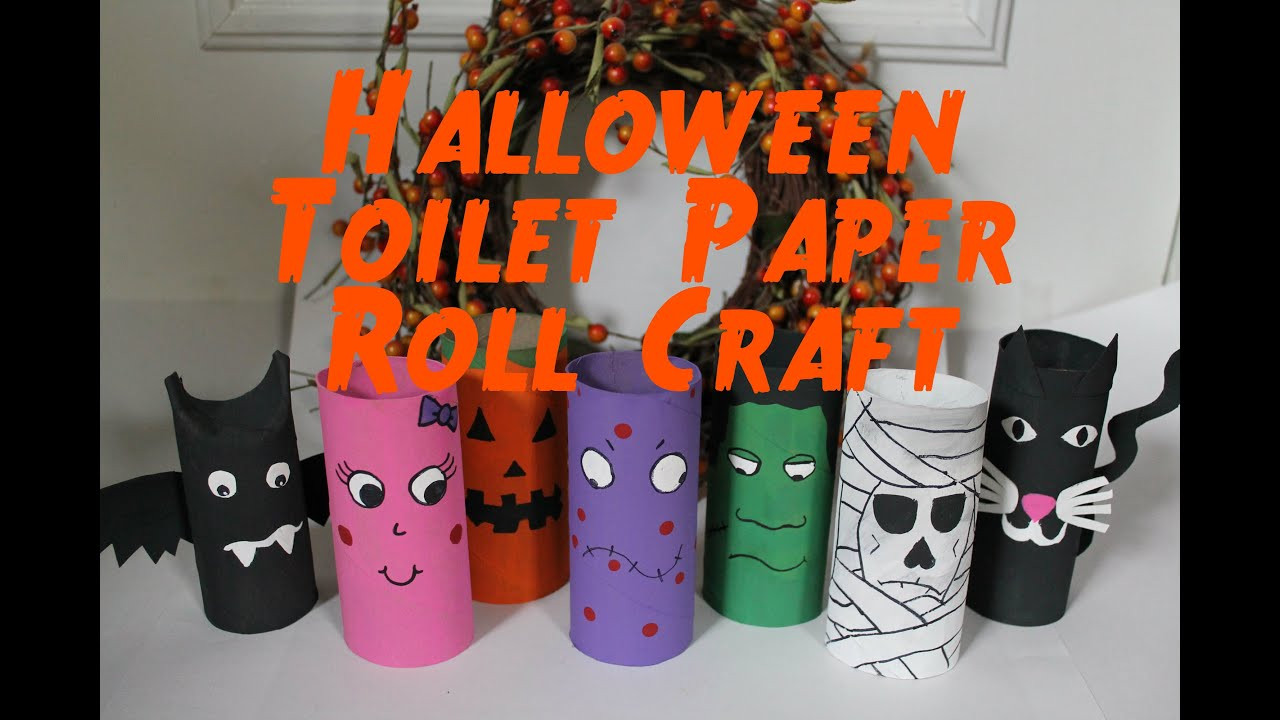 Toilet Paper Roll Halloween Crafts  DIY Halloween Decorations Recycled Toilet Paper Roll