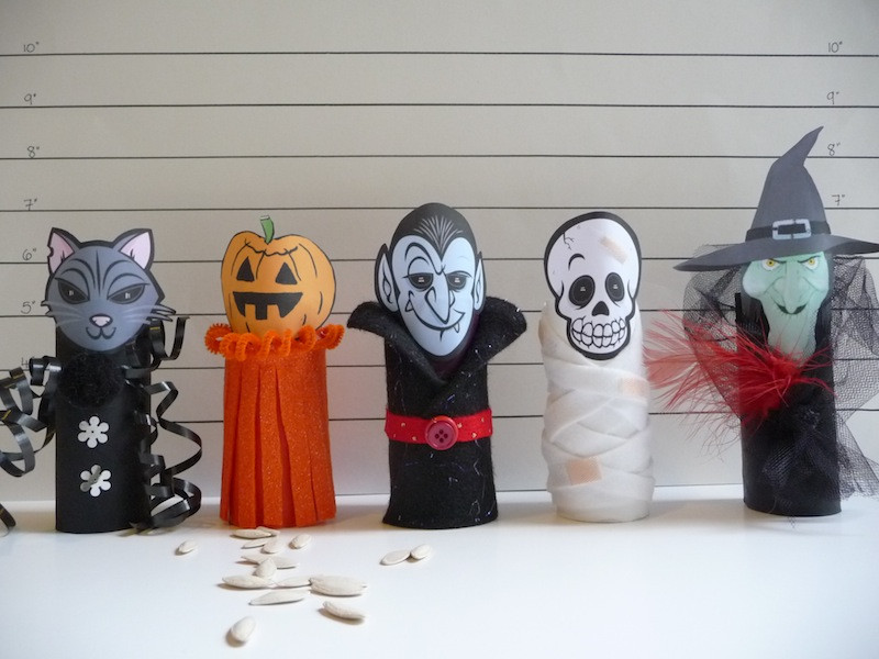 Toilet Paper Roll Halloween Crafts  toilet paper roll craft