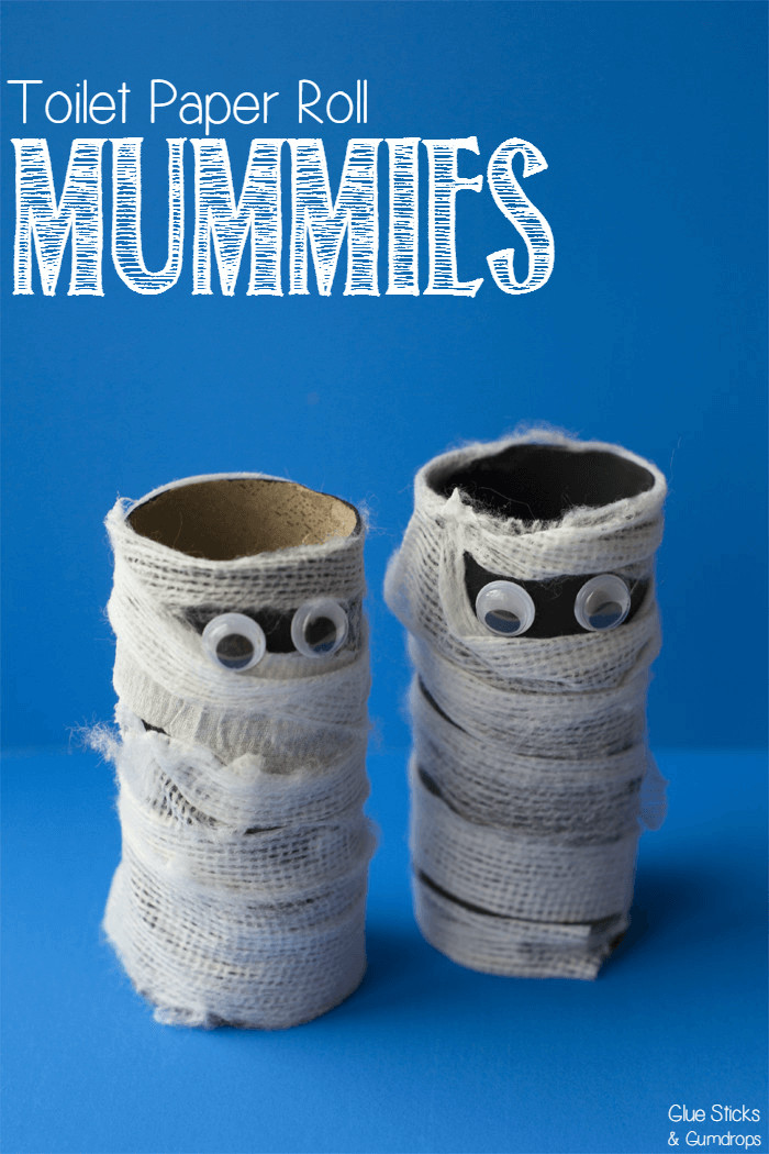 Toilet Paper Roll Halloween Crafts  Toilet Paper Roll Mummy Craft for Halloween