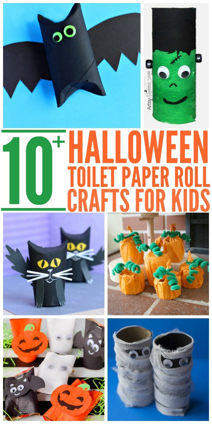 Toilet Paper Roll Halloween Crafts  10 Easy Halloween Toilet Paper Roll Crafts Glue Sticks