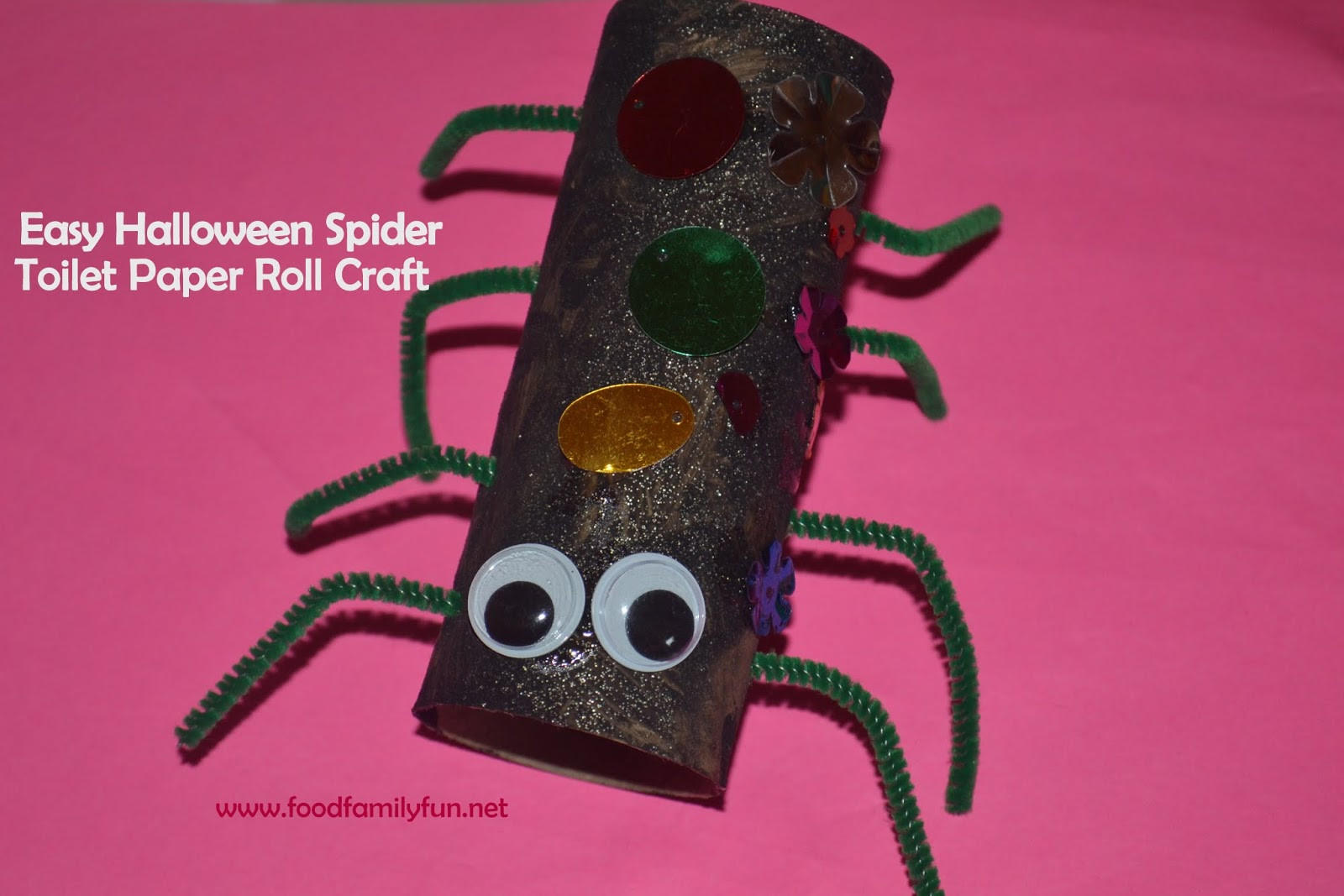 Toilet Paper Roll Halloween Crafts  Food Family Fun Halloween Toilet Paper Roll Spider Craft