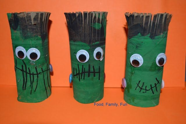 Toilet Paper Roll Halloween Decorations  halloween crafts with toilet paper rolls