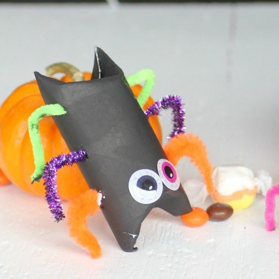 Toilet Paper Roll Halloween Decorations  Halloween Kid Craft Candy Filled Toilet Paper Roll