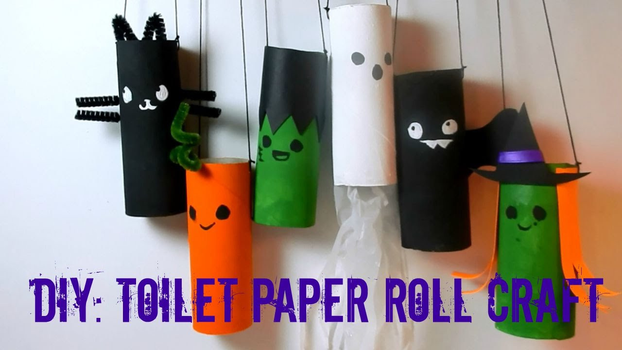 Toilet Paper Roll Halloween Decorations  DIY Halloween Toilet Paper Roll Craft Recycle