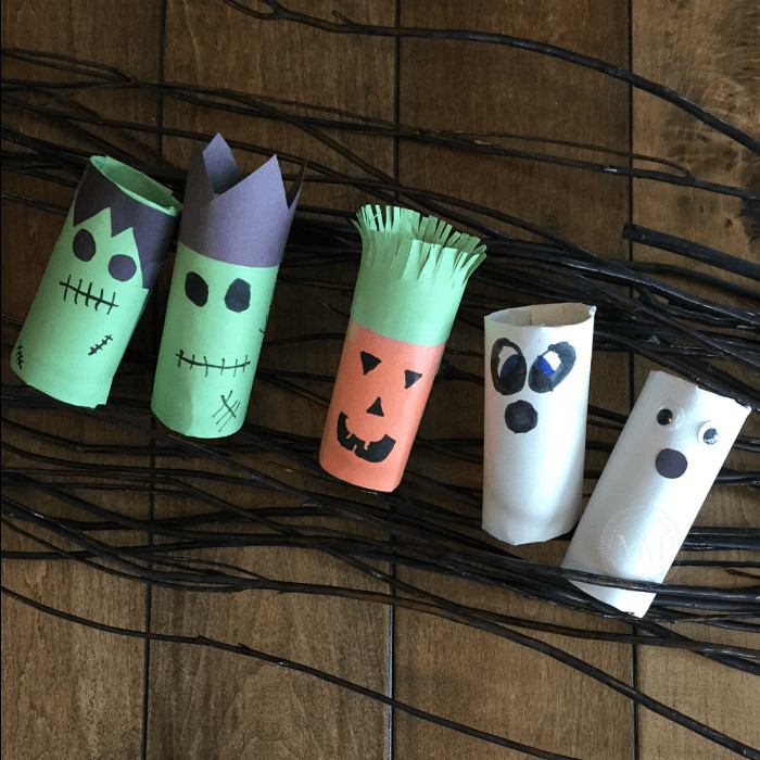 Toilet Paper Roll Halloween Decorations  HALLOWEEN TOILET PAPER ROLL CRAFT