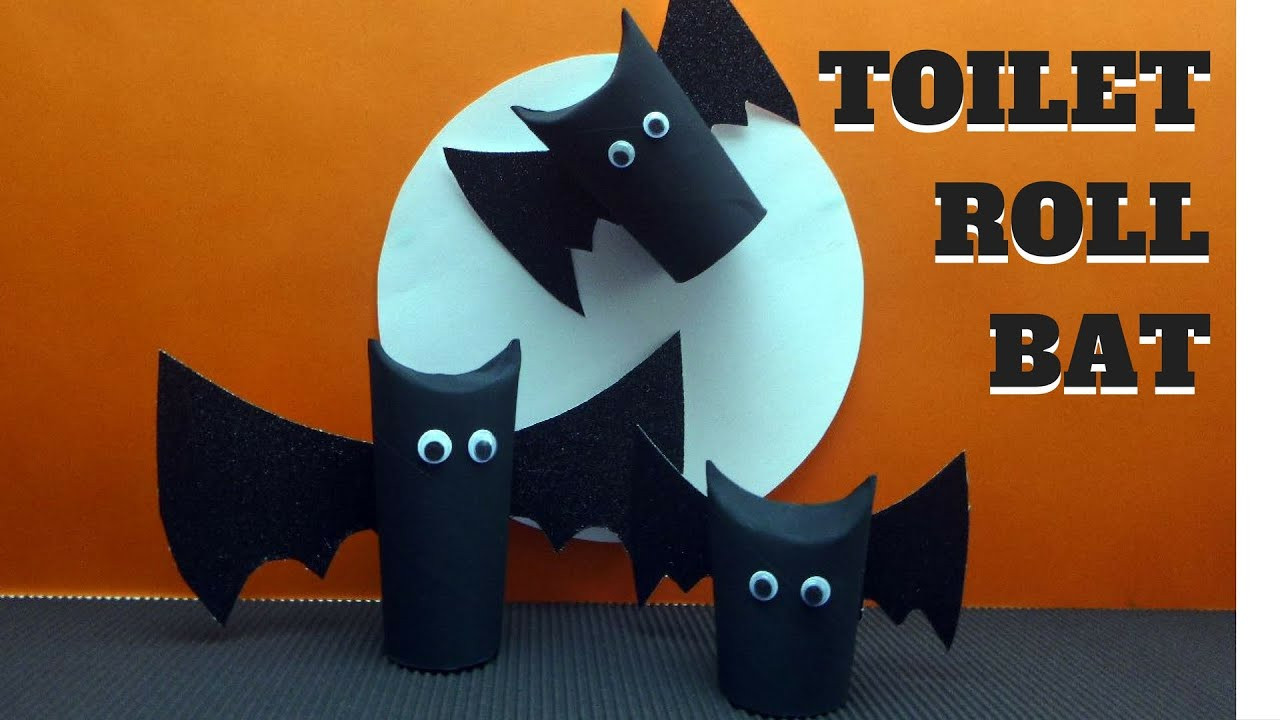 Toilet Paper Roll Halloween Decorations  Halloween Crafts Toilet Paper Roll Bat Toilet Paper