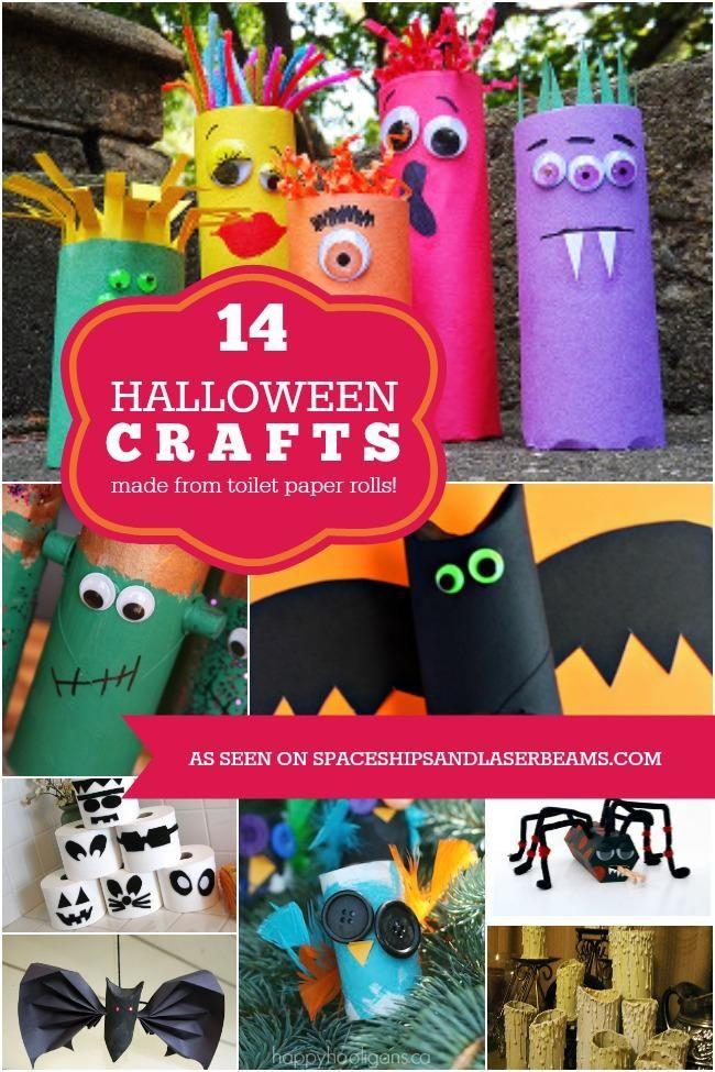 Toilet Paper Roll Halloween Decorations  20 best Halloween Decorations using toilet paper rolls