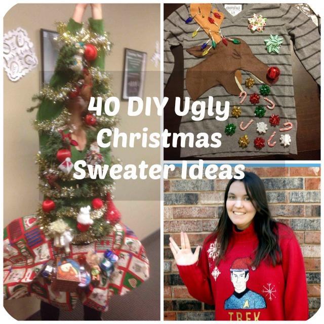 Ugly Christmas Sweater Ideas DIY  53 DIY Ugly Christmas Sweater Ideas