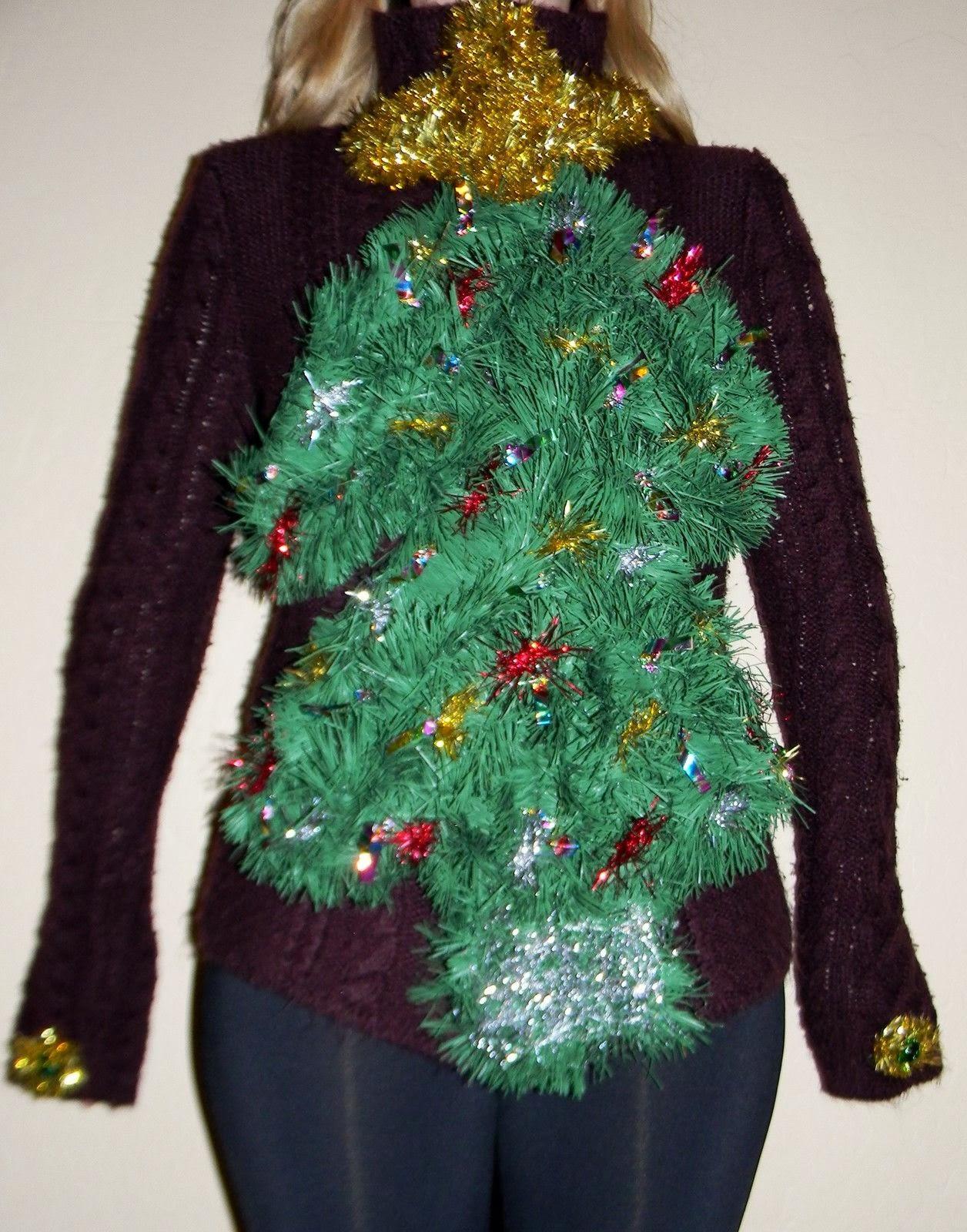 Ugly Christmas Sweater Ideas DIY  DIY Handmade Ugly Christmas Sweater Ideas Crafty Morning