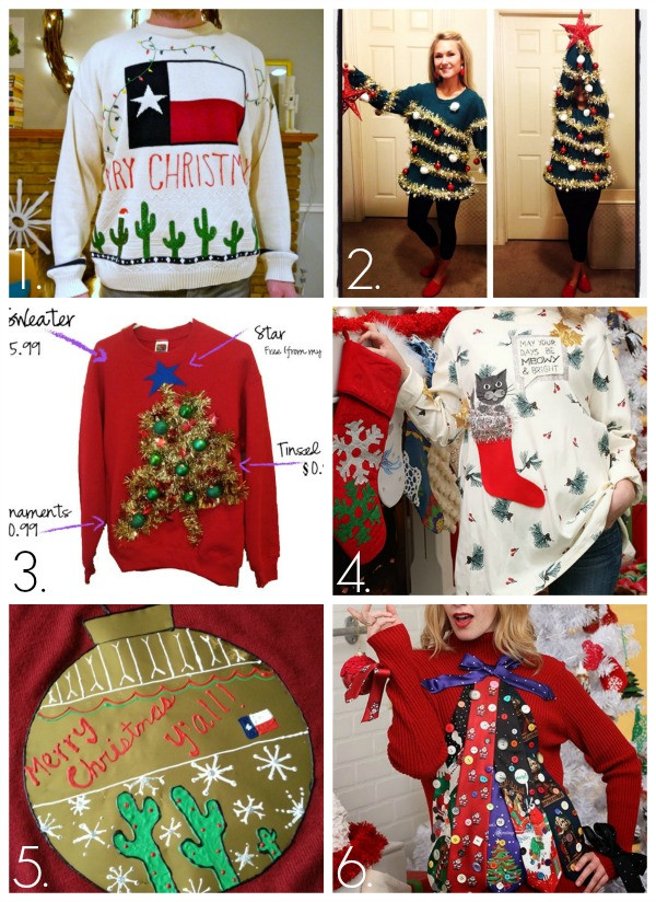 Ugly Christmas Sweater Ideas DIY  32 DIY Ugly Christmas Sweaters C R A F T