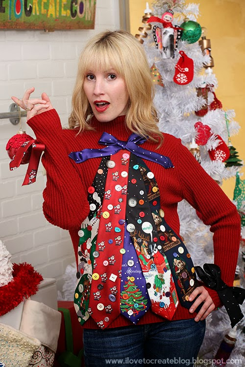 Ugly Christmas Sweater Ideas DIY  Get Wacky and Crafty with Pattiewack Ugly Sweater DIY