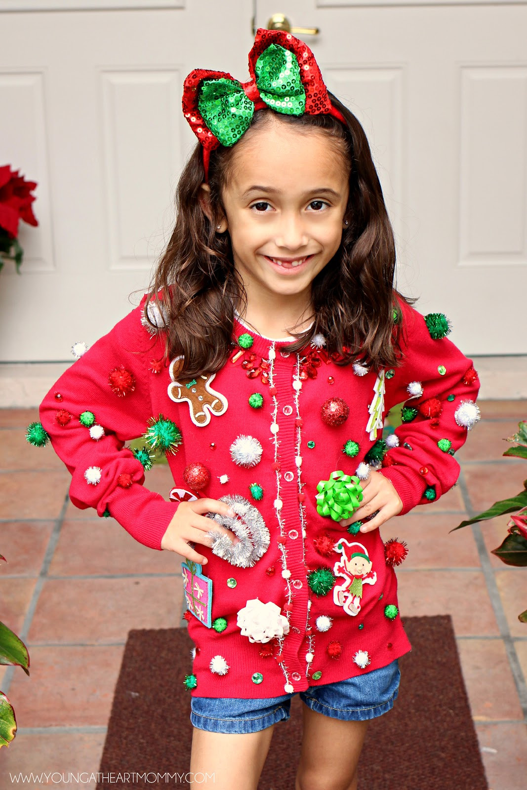 Ugly Christmas Sweater Ideas DIY  Ugly Sweater GoGo squeeZ AppleSauce Pouches Young At