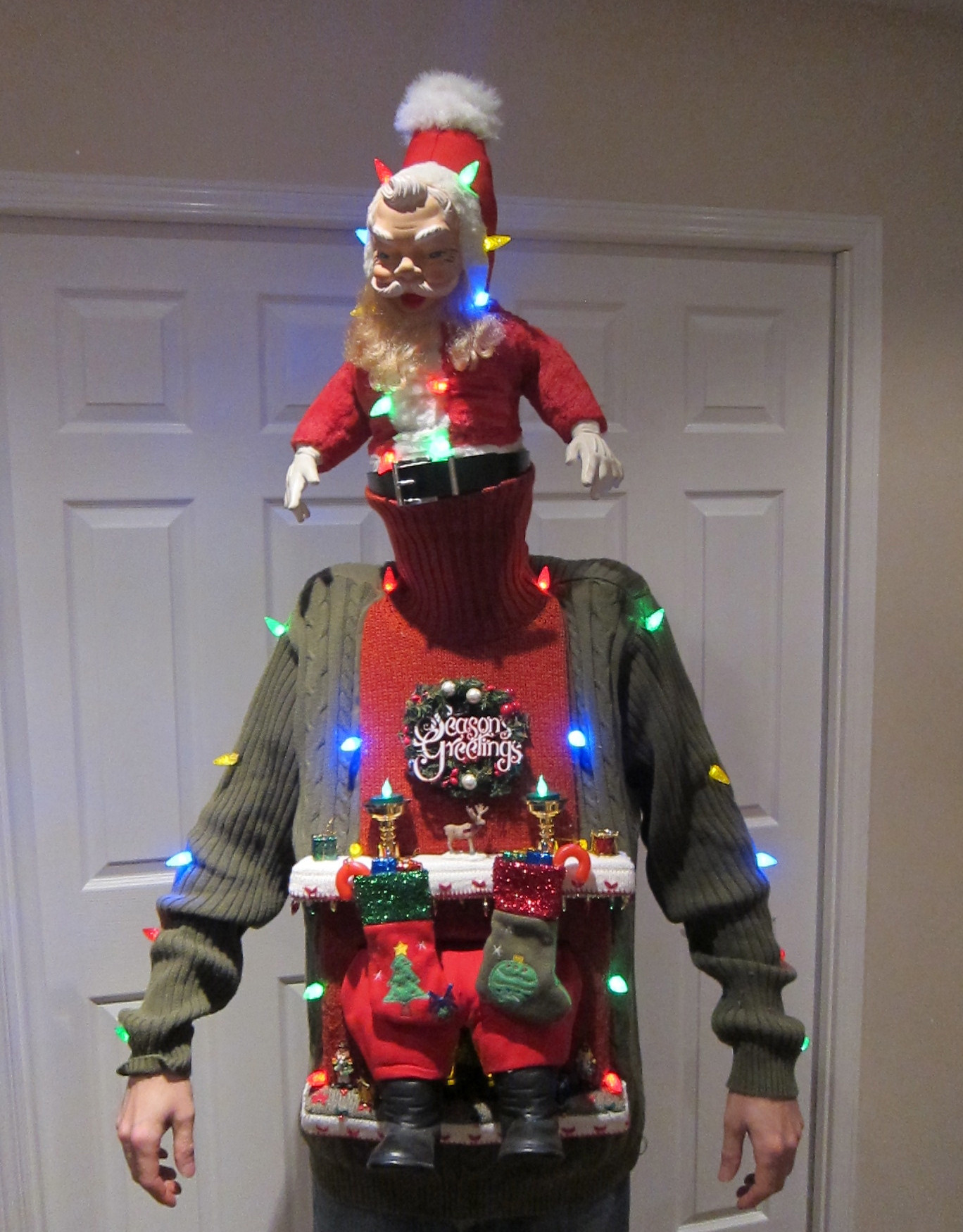 Ugly Christmas Sweater Ideas DIY  UGLY CHRISTMAS SWEATER DIY Stuck in the Chimney 2012