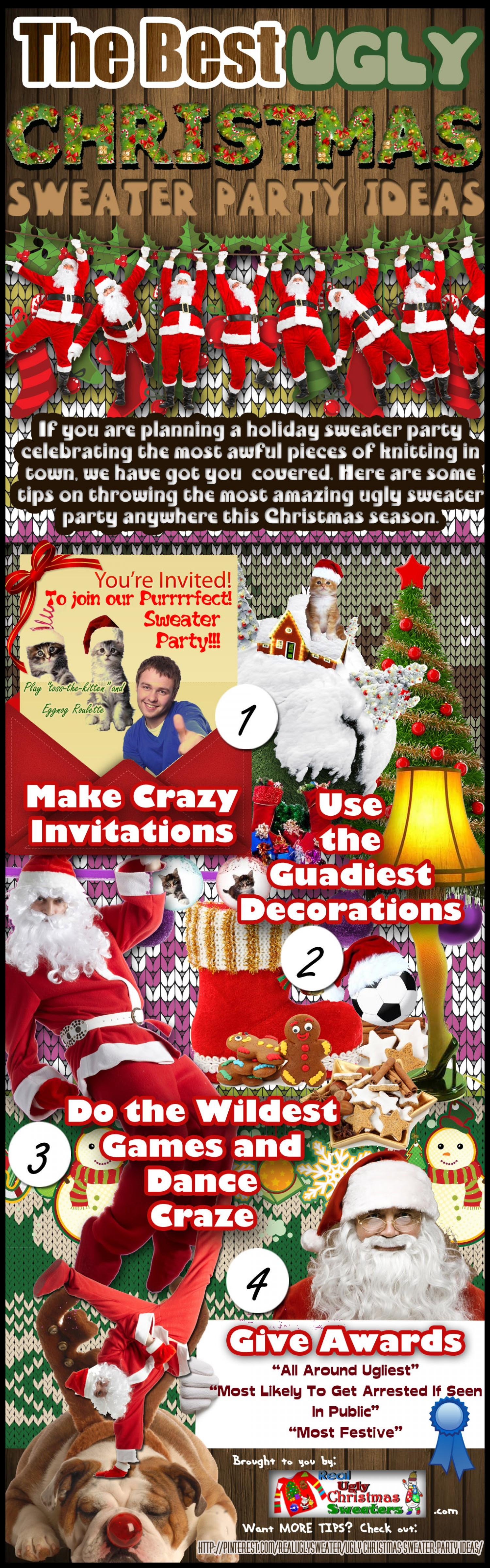 Ugly Sweater Christmas Party Ideas  The Best Ugly Christmas Sweater Party Ideas