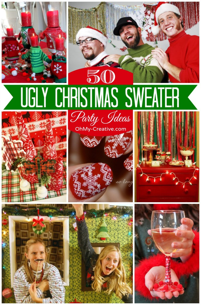 Ugly Sweater Christmas Party Ideas  15 Do It Yourself Ugly Christmas Sweaters Oh My Creative