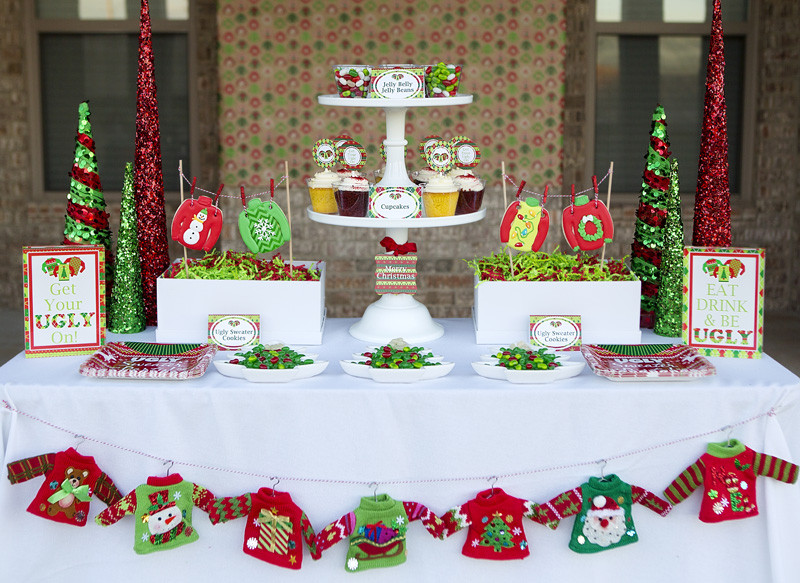 Ugly Sweater Christmas Party Ideas  Ugly Sweater Party Fun Tacky Sweater Christmas Party
