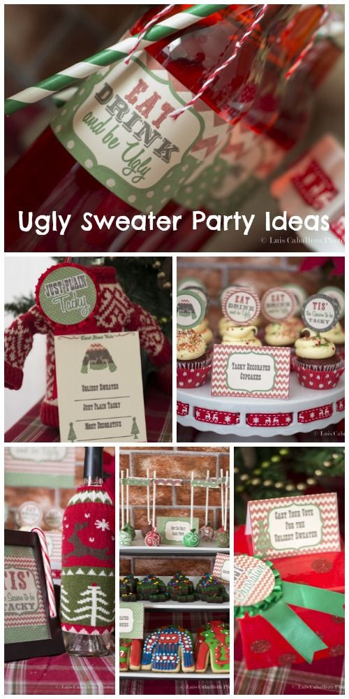 """Ugly Sweater Christmas Party Ideas  Holiday Christmas Christmas Holiday """"Vintage Ugly"""