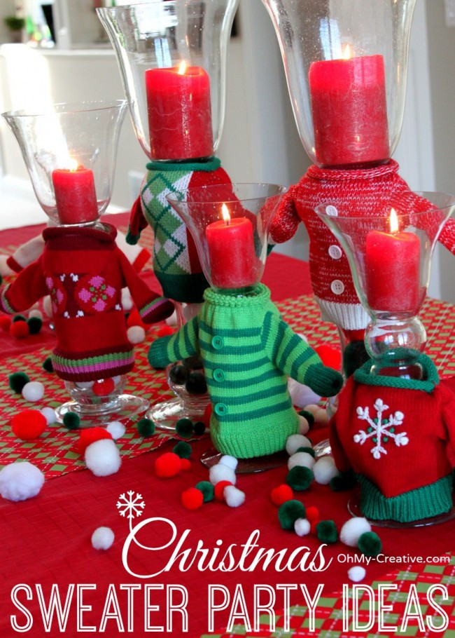 Ugly Sweater Christmas Party Ideas  50 Ugly Christmas Sweater Party Ideas Oh My Creative