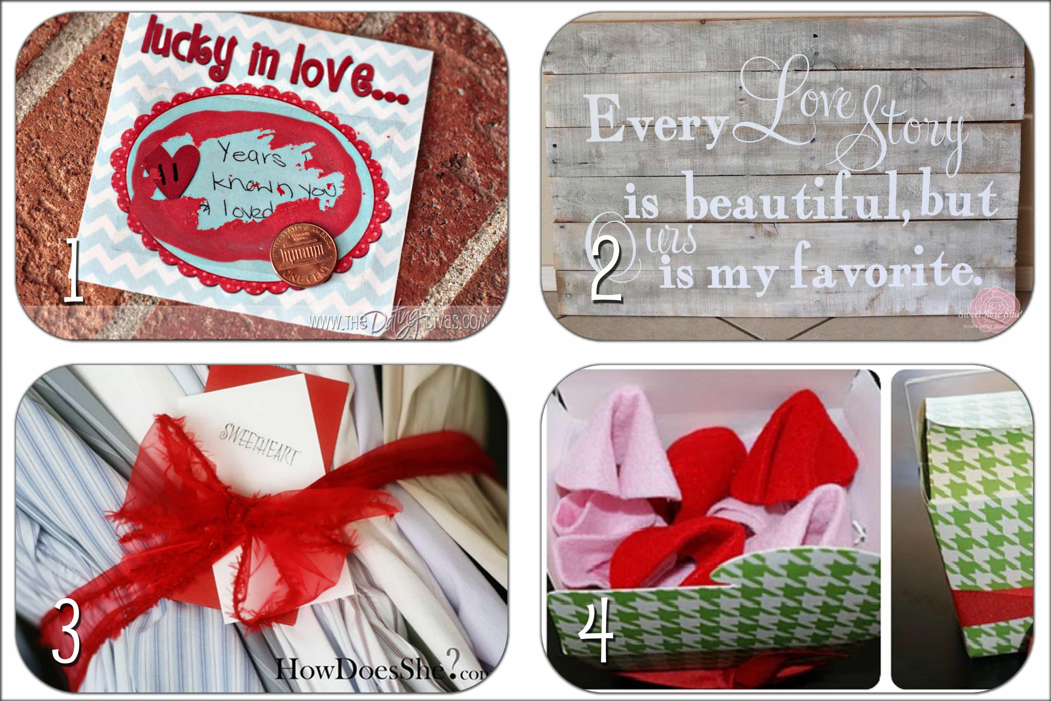 Valentines Gift Ideas  valentine s handmade t ideas round up