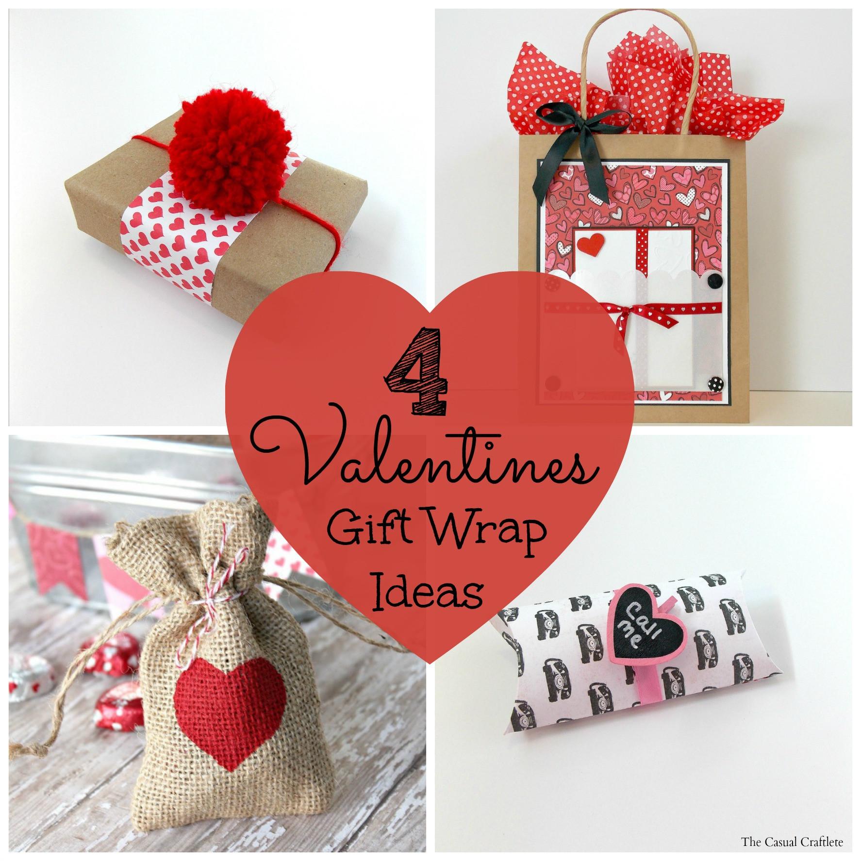 Valentines Gift Ideas  4 Valentines Gift Wrap Ideas Purely Katie