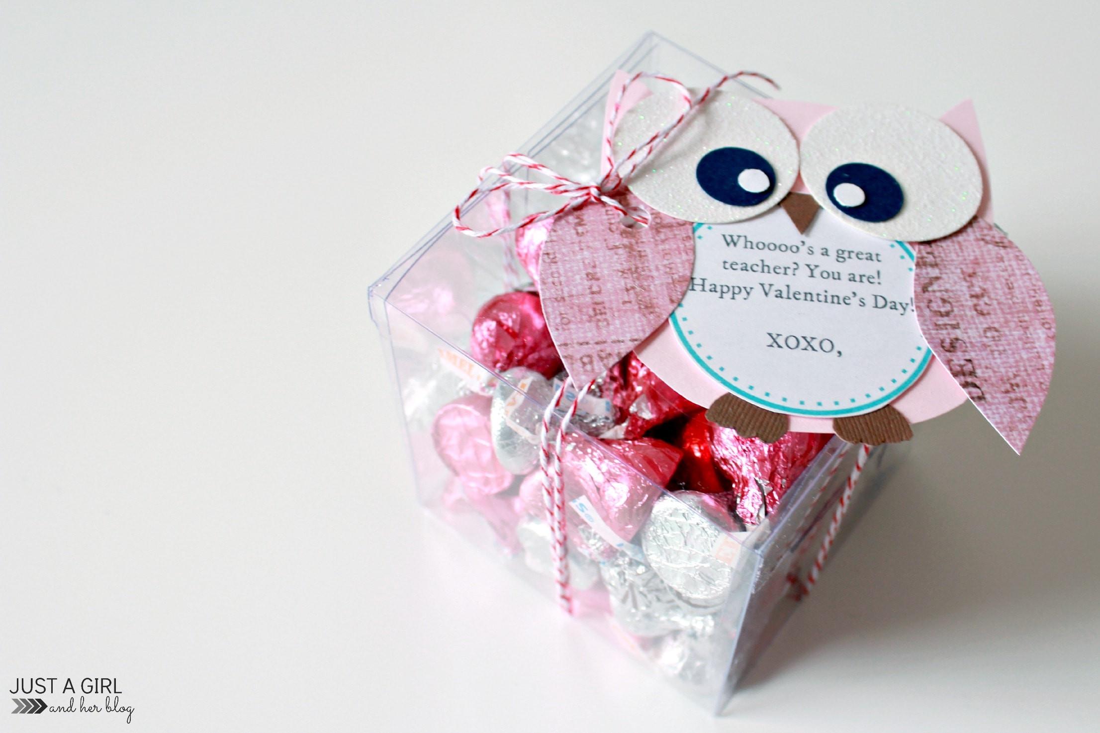Valentines Gift Ideas  Owl Valentine Teacher Gift