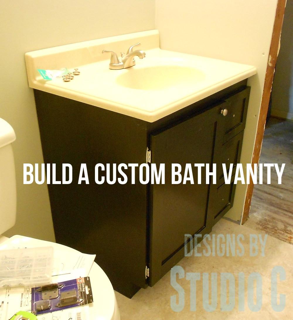 Vanity Plans DIY  free DIY woodworking plans to build a custom bath vanity