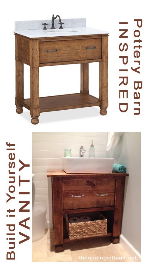 Vanity Plans DIY  DIY Bathroom Vanity How To