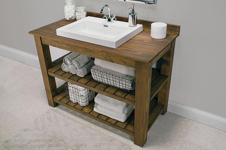 Vanity Plans DIY  13 DIY Bathroom Vanity Plans You Can Build Today