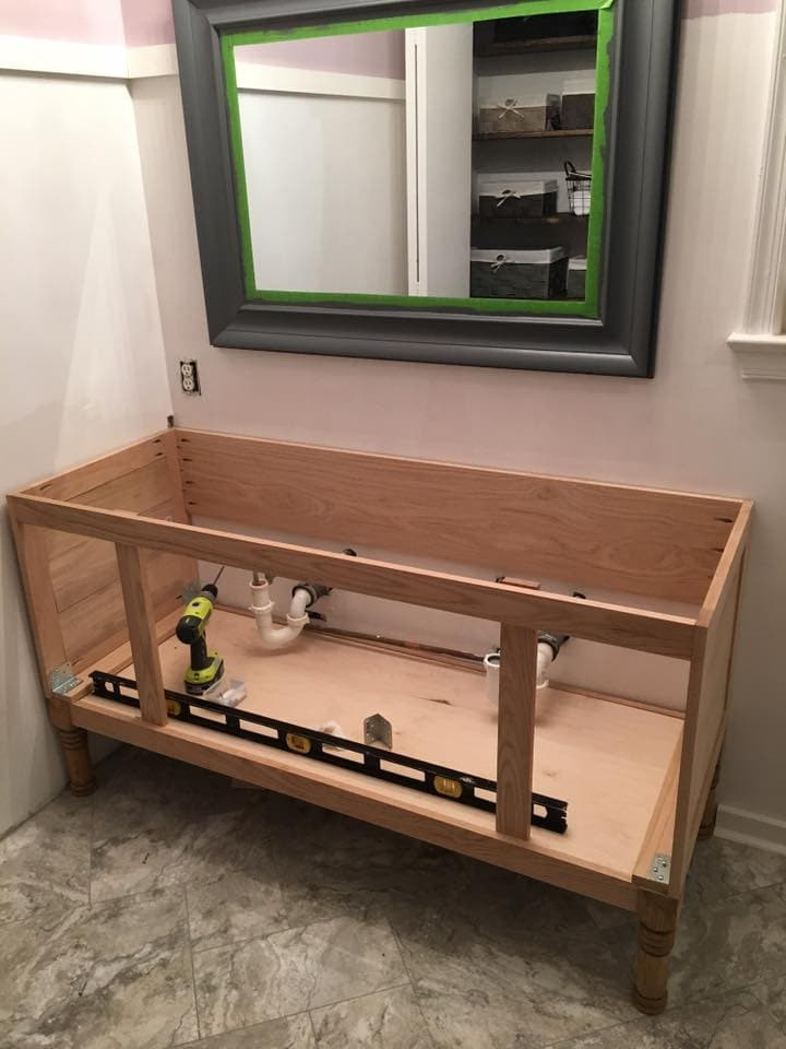 "Vanity Plans DIY  How to Build a 60"" DIY Bathroom Vanity From Scratch"