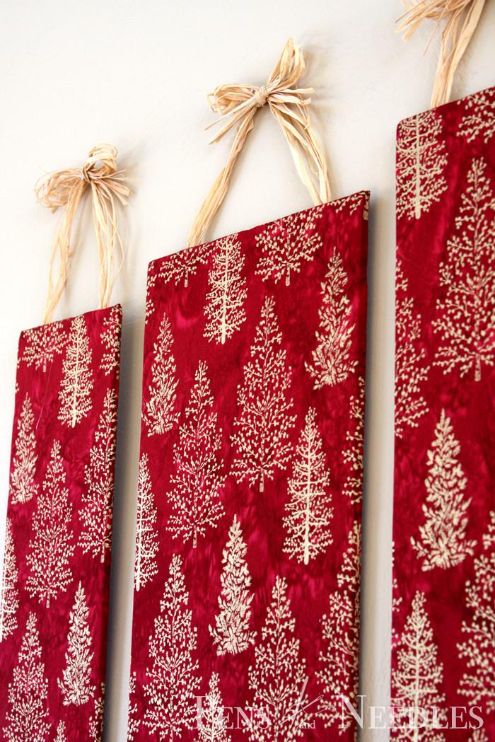 Wall Decor For Christmas  Pens and Needles DIY Christmas Wall Art