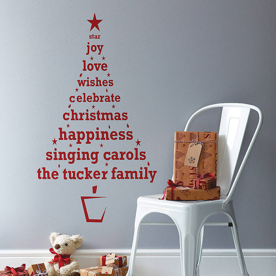 Wall Decor For Christmas  personalised christmas tree wall sticker by spin
