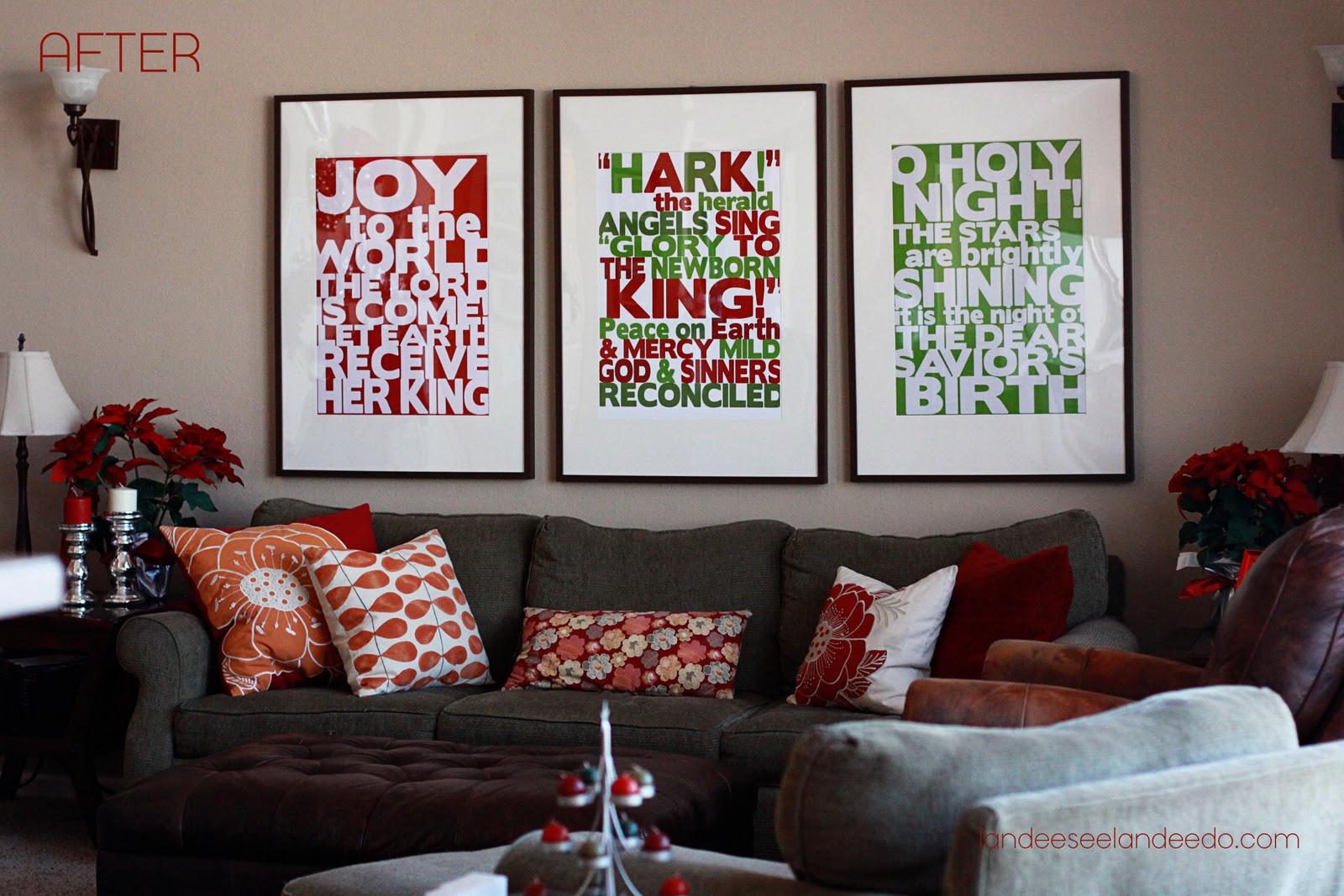Wall Decor For Christmas  Decorating With s landeelu