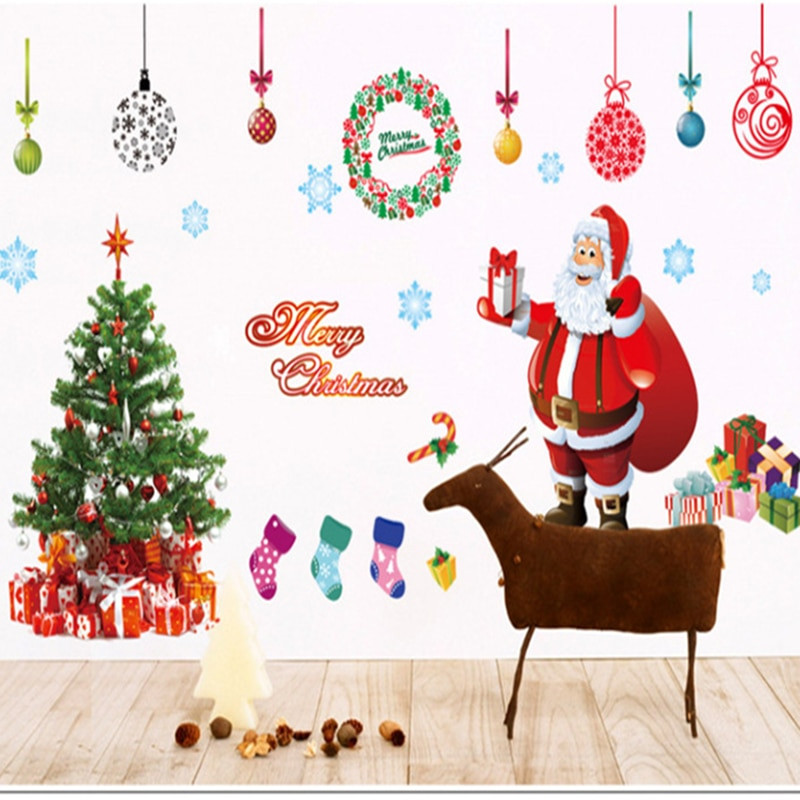 Wall Decor For Christmas  Aliexpress Buy Free shipping Merry Christmas Wall
